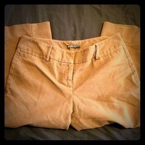 LightBrown/Tan capri fitted-slacks